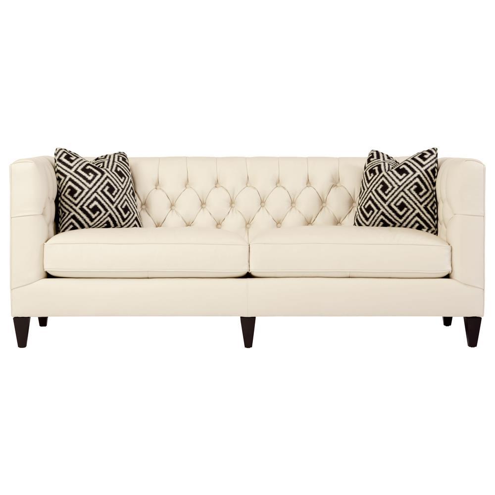 jane hollywood regency mocha wood cream leather tufted sofa. Black Bedroom Furniture Sets. Home Design Ideas