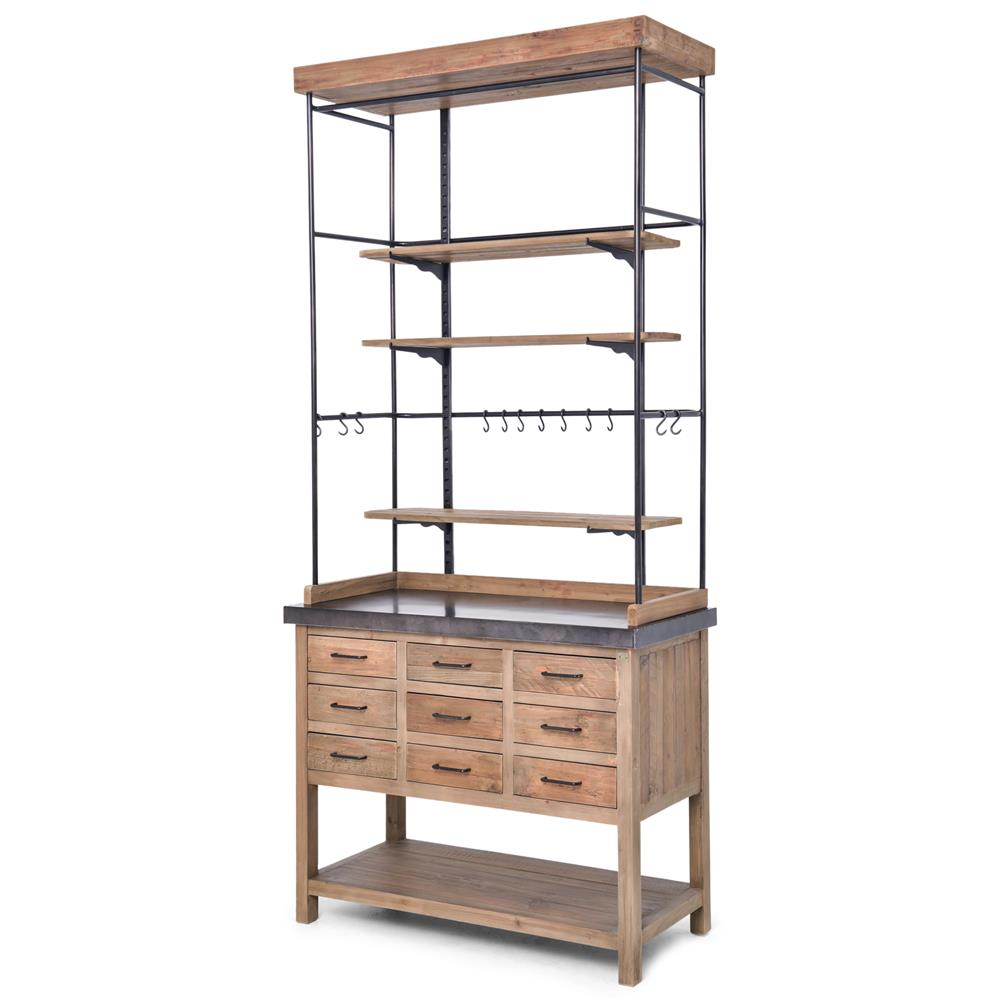 Awesome Callie French Country Pine Iron Zinc Display Case Buffet Cabinet | Kathy  Kuo Home ...