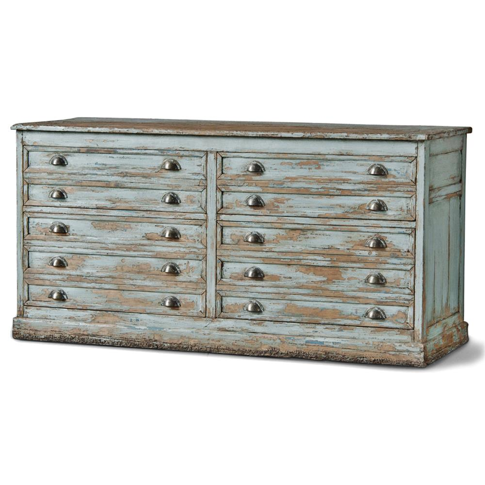 Brela Coastal Beach Weathered Grey Pine Sideboard Dresser