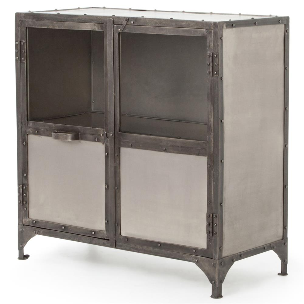 Sideboard Industrial fronzoni industrial loft wide metal shoe locker style sideboard