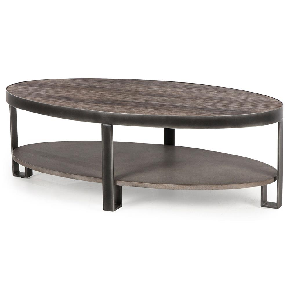 Owen Industrial Loft 2 Tier Brushed Metal Coffee Table Kathy Kuo Home