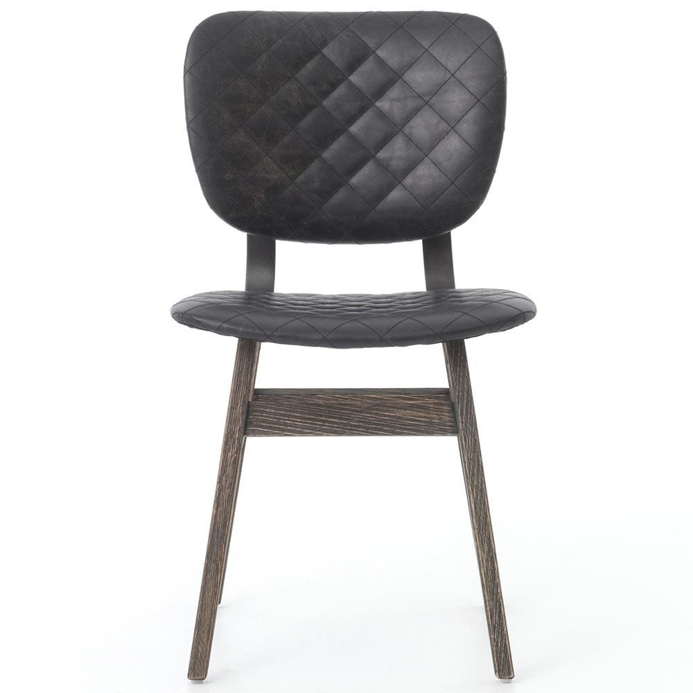 Drifter Industrial Loft Black Leather Quilt Charcoal  : product11332 from www.kathykuohome.com size 1000 x 1000 jpeg 58kB