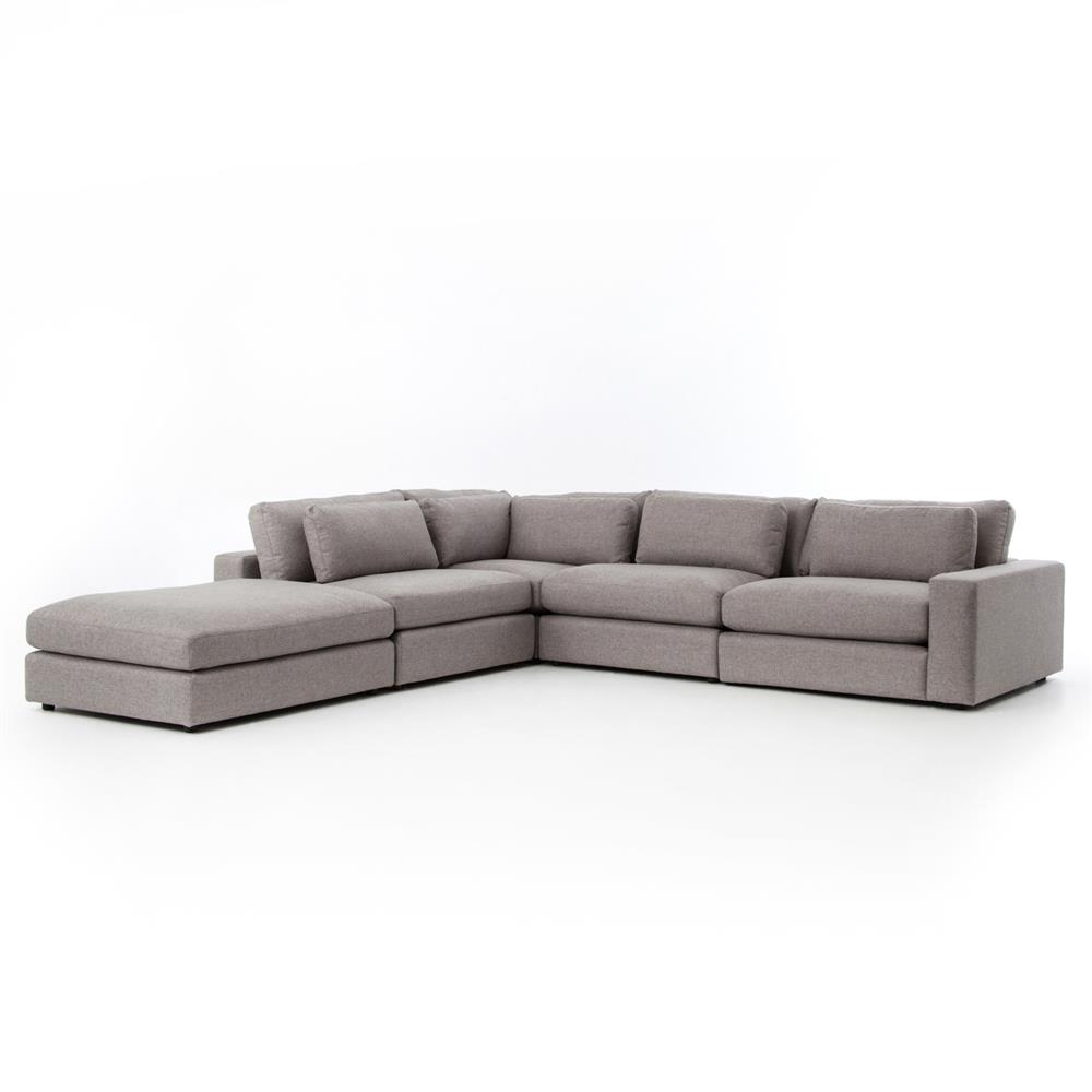 Fatima Modern Classic Grey 4 Piece Sectional Sofa Kathy