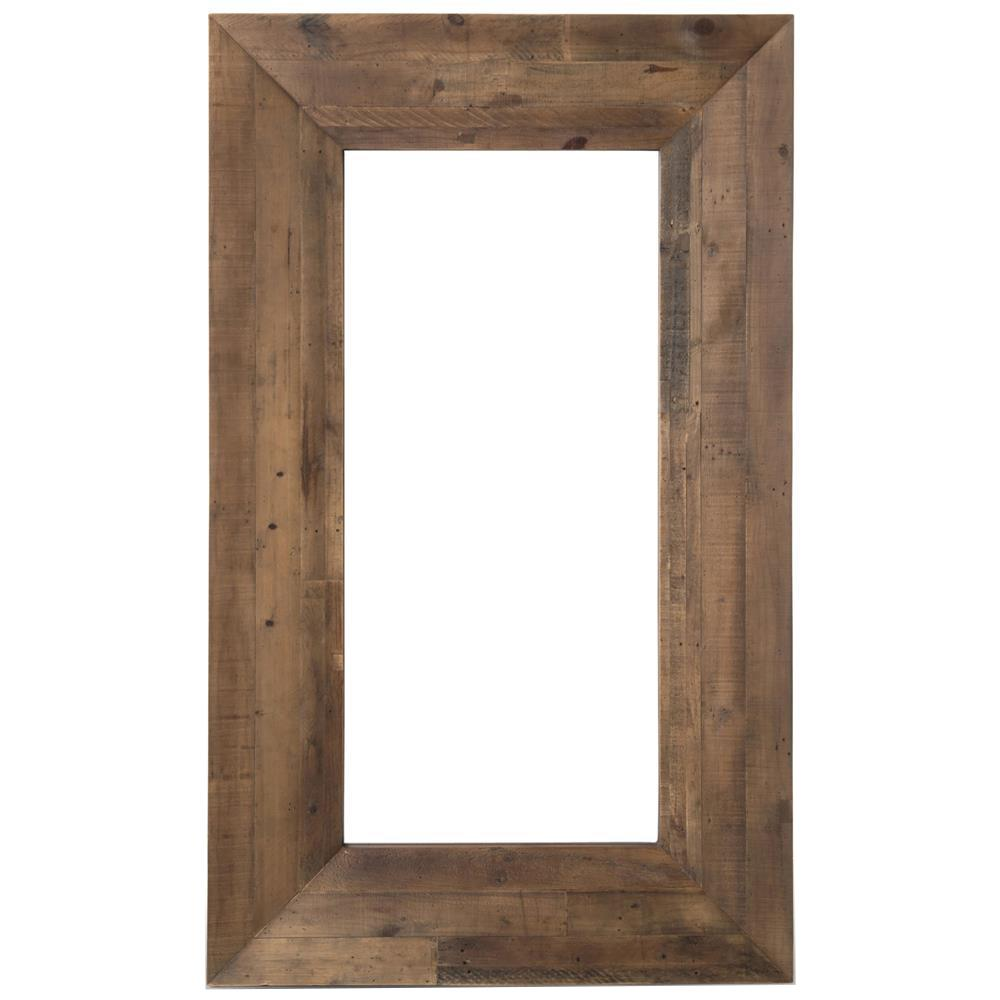 Nevada rustic lodge natural reclaimed wood wall mirror for Rustic mirror