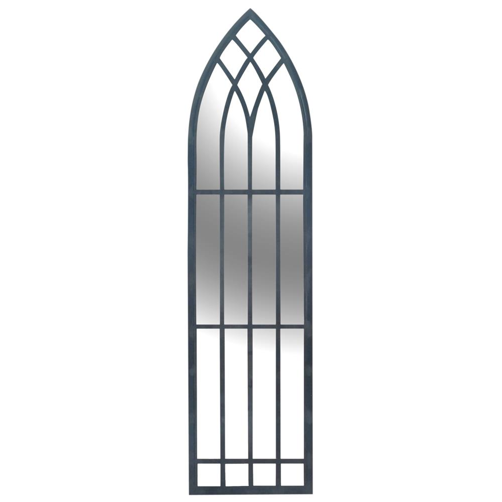 Lambeth gothic cathedral raw iron wall mirror kathy kuo home amipublicfo Gallery