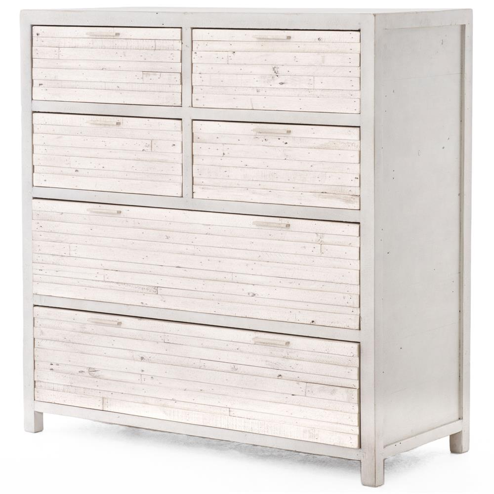 blanca coastal beach white wash reclaimed wood 6 drawer dresser kathy kuo home