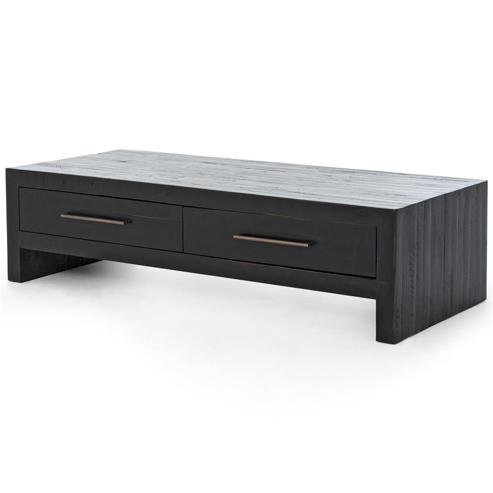 Coffee Table With Drawers: Dorwin Industrial Loft Espresso Brown Wood 2 Drawer Coffee