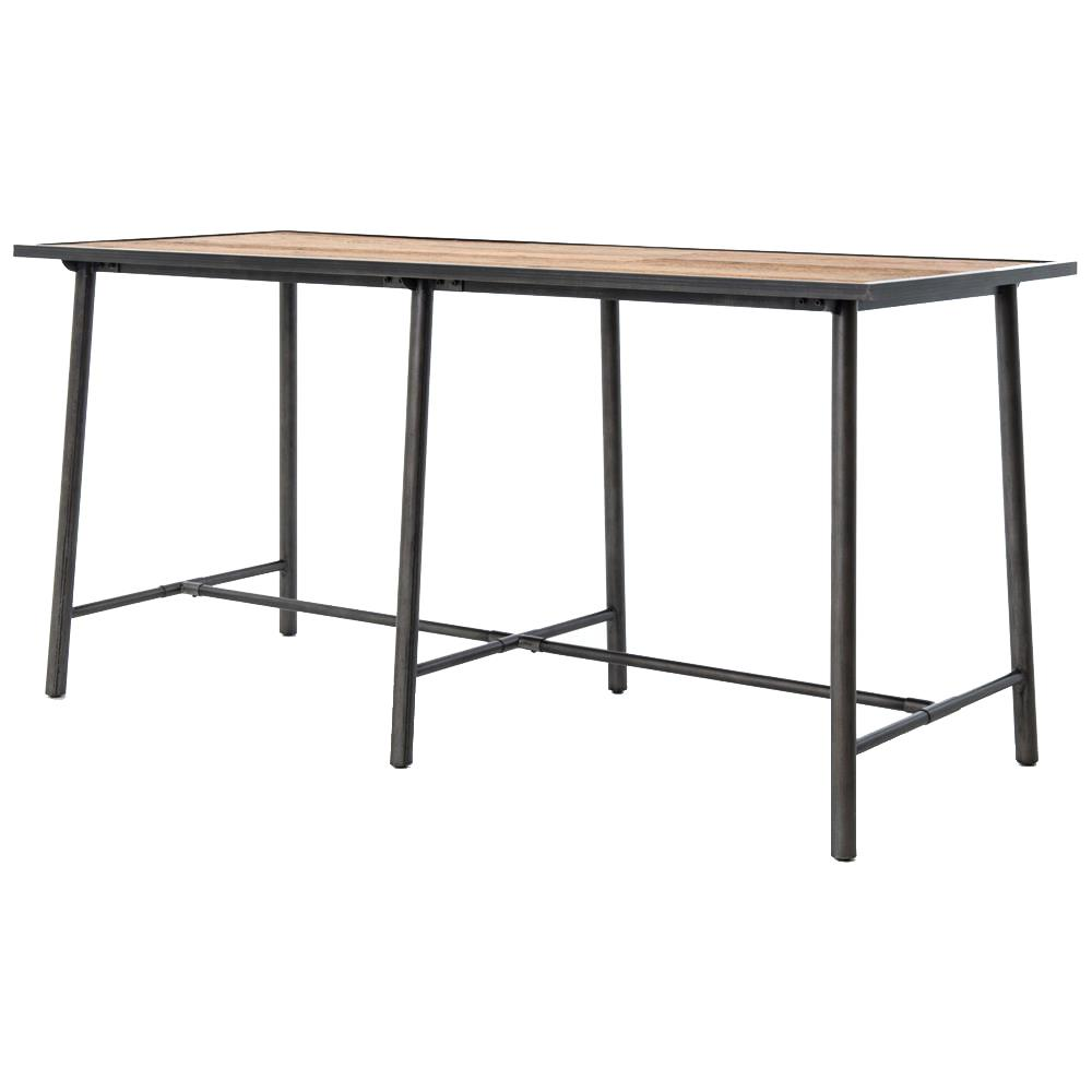 Allegheny Industrial Loft Reclaimed Oak Iron Dining Bar Table | Kathy Kuo  Home ...