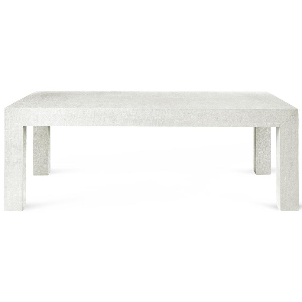 Wynne Modern Classic White Lacquer Grasscloth Coffee Table Kathy Kuo Home