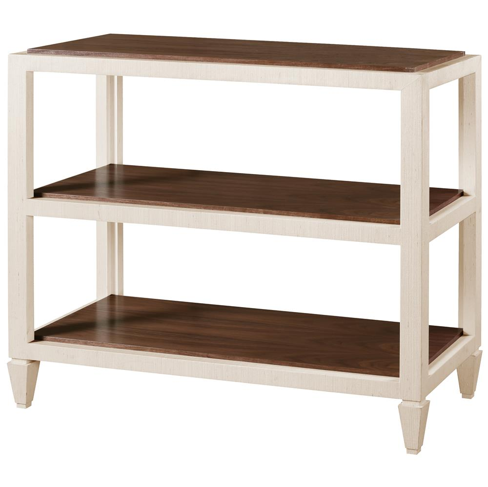 Delen modern classic ivory lacquer grasscloth brown for Modern classic table