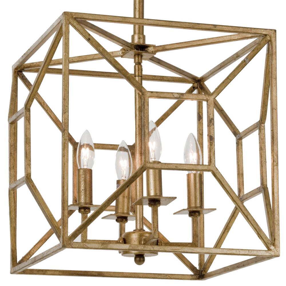 Tippi hollywood regency gold leaf geo cage 4 light chandelier tippi hollywood regency gold leaf geo cage 4 light chandelier kathy kuo home aloadofball Images