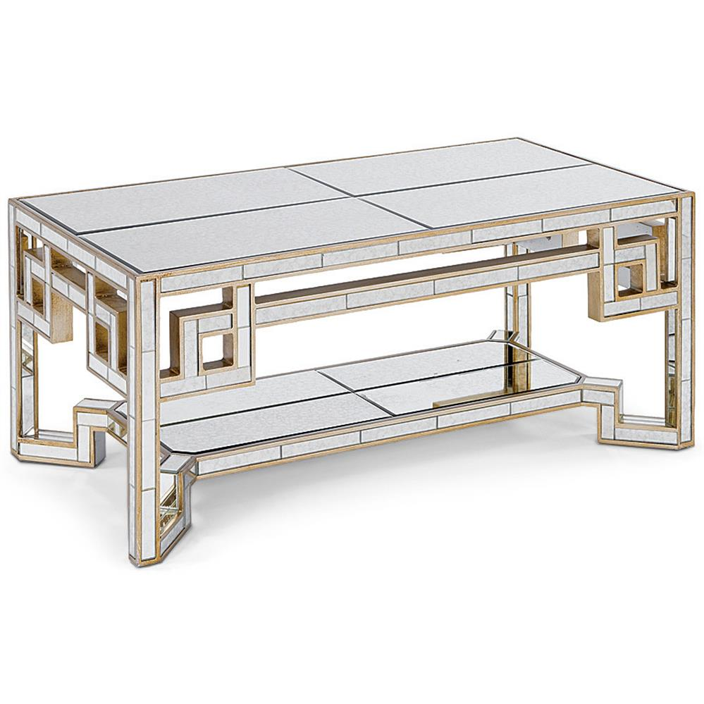 coffee tables alice hollywood gold lattice antique mirror coffee table