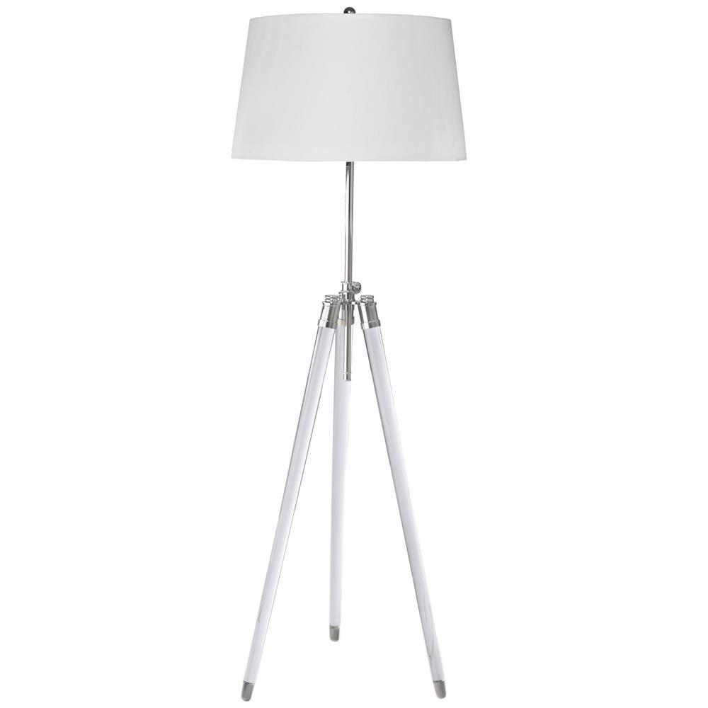 Hubble modern classic acrylic tripod brushed nickel floor lamp hubble modern classic acrylic tripod brushed nickel floor lamp kathy kuo home aloadofball Images
