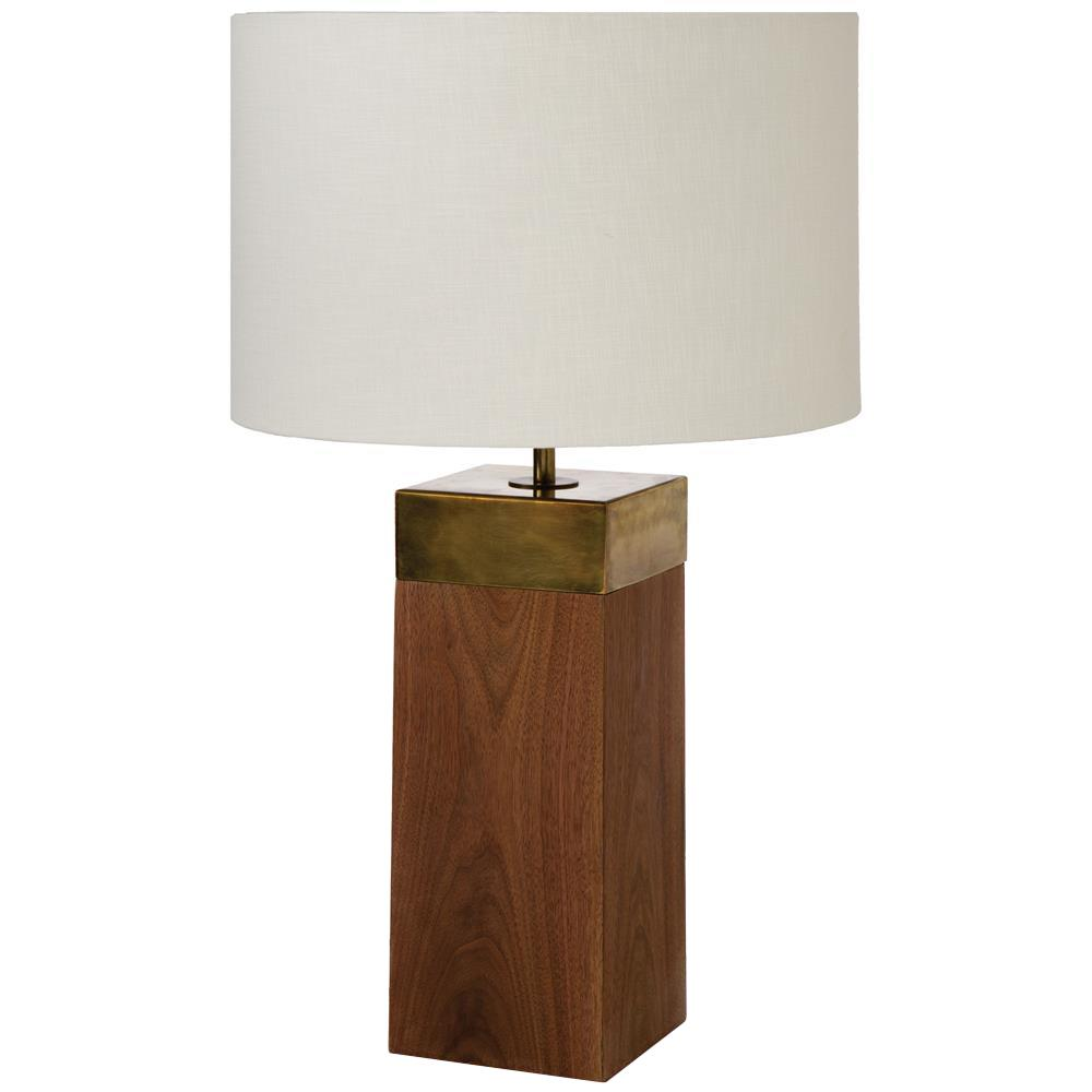 Vega rustic lodge oak column brass table lamp kathy kuo home geotapseo Images