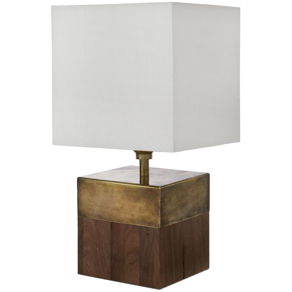 Vega rustic lodge oak cube brass table lamp kathy kuo home geotapseo Images