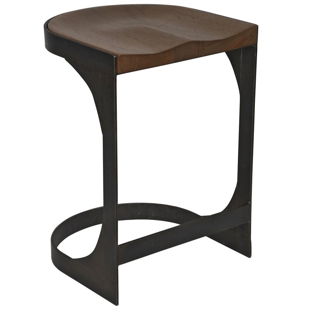 Andie industrial loft modern rustic wood metal counter stool kathy kuo home