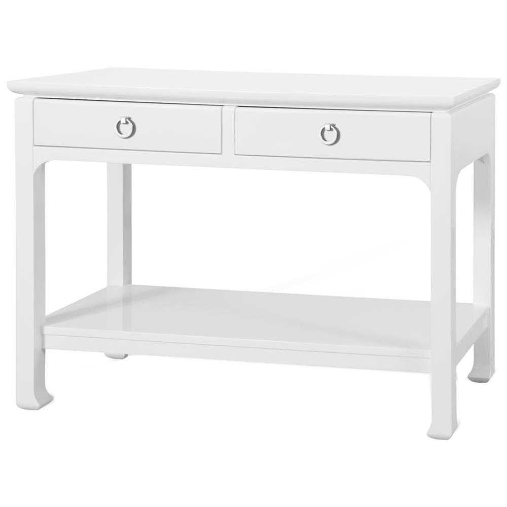 Bruna modern classic white lacquer chinoiserie console for Modern white lacquer console table