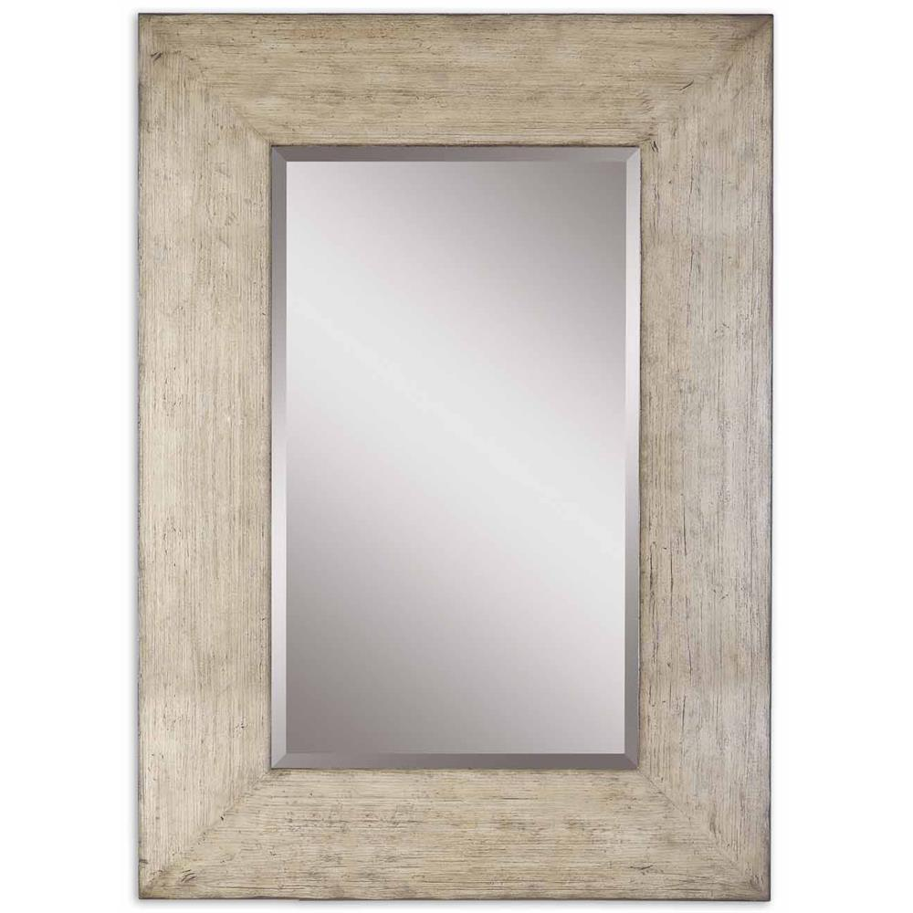 Coastal Wall Mirrors langston coastal beach distressed wash grey wood wall mirror