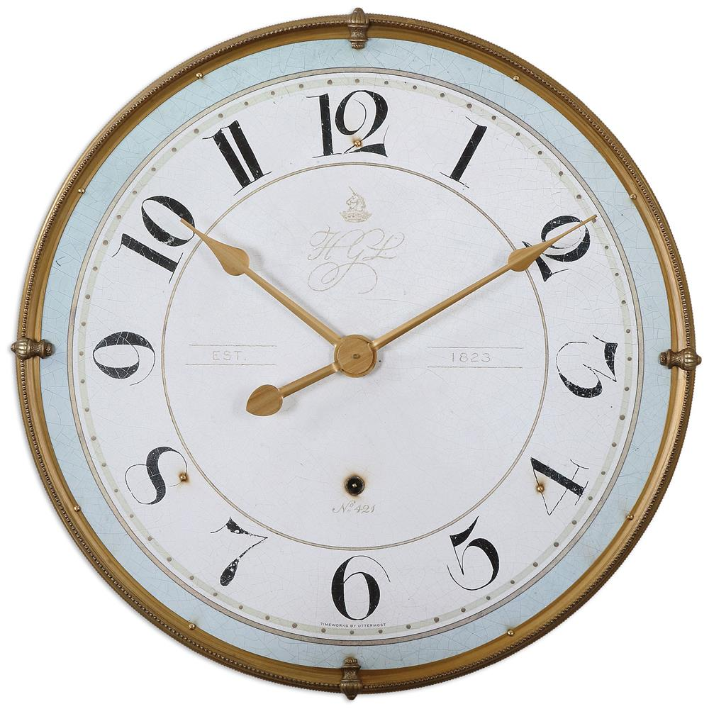 alouette french country antique frame gold wall clock ebay. Black Bedroom Furniture Sets. Home Design Ideas