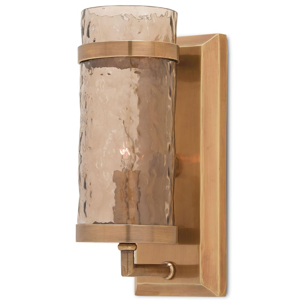 Linwood Modern Classic Copper Wave Glass Wall Sconce