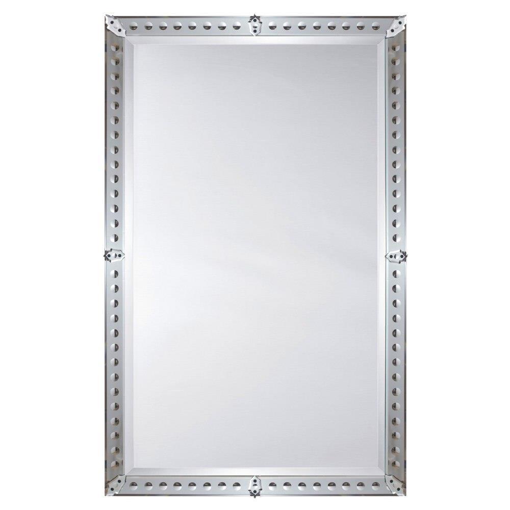 Thomas Modern Classic Mirror Rosettes Venetian Mirror | Kathy Kuo Home