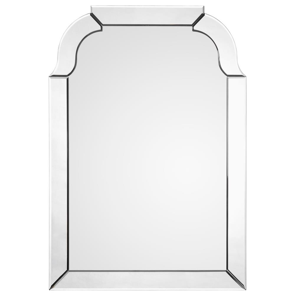 Claudia Modern Classic Beveled Arch Frame Mirror | Kathy Kuo Home