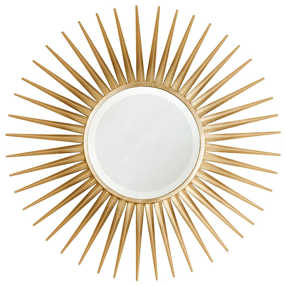 Hitchcock hollywood regency gold leaf sunburst mirror for Sunburst mirror