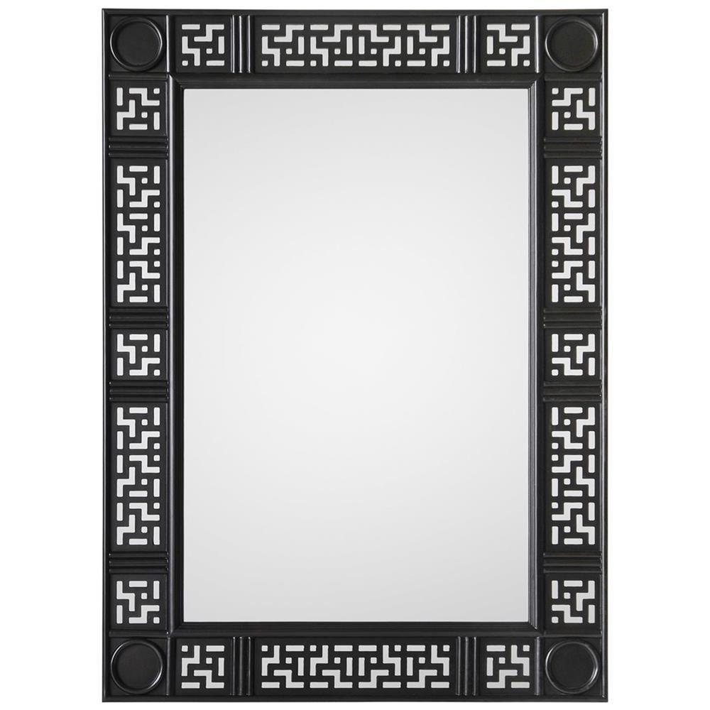Soweto global bazaar black fretwork asian style mirror for Asian style mirror