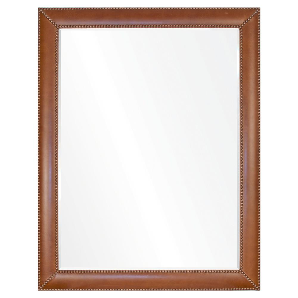 Gayle modern classic brown leather brass frame mirror 42x30 gayle modern classic brown leather brass frame mirror 42x30 kathy kuo home jeuxipadfo Image collections