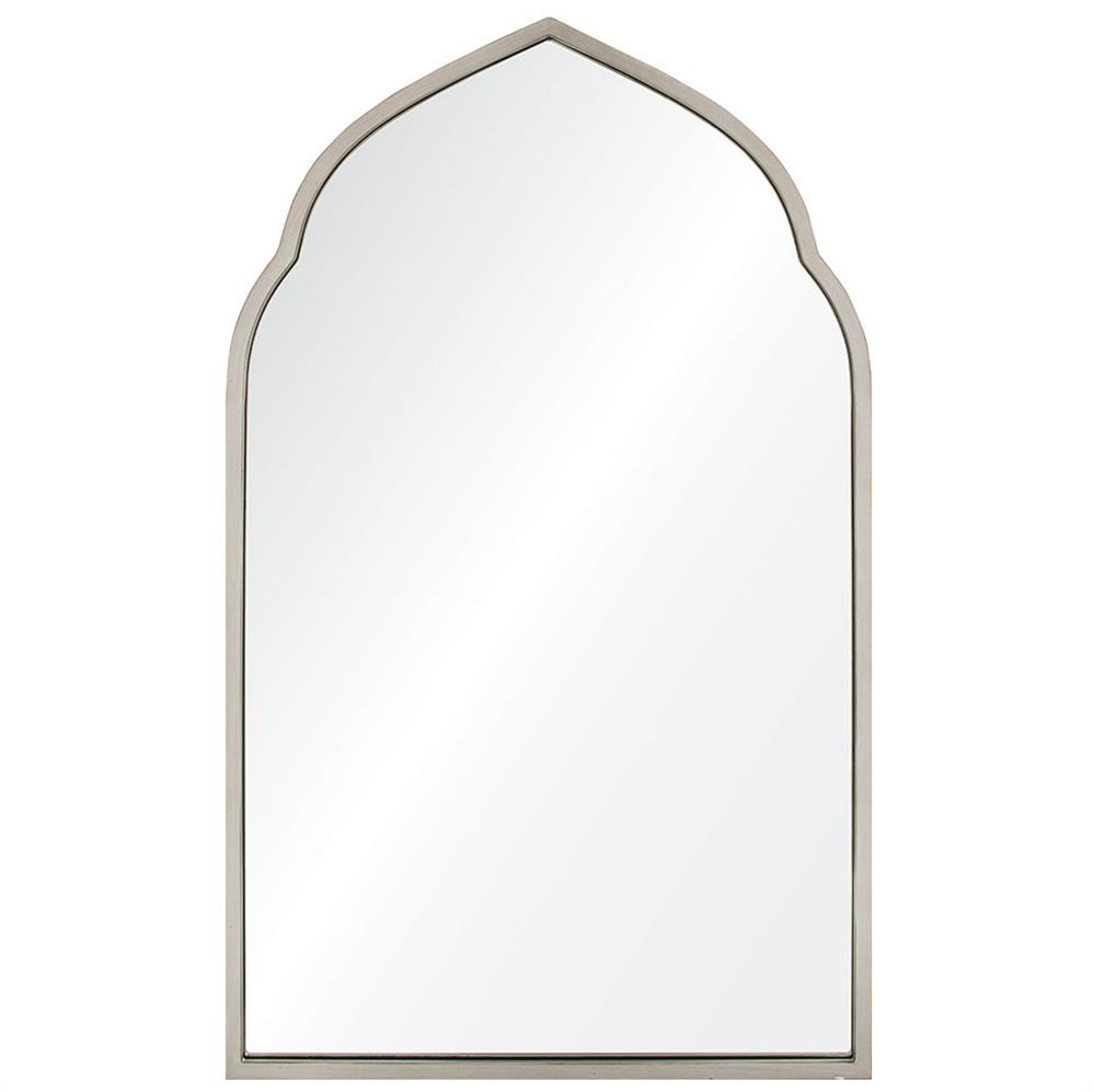 Royan Global Bazaar Antique Silver Leaf Moroccan Arch Mirror
