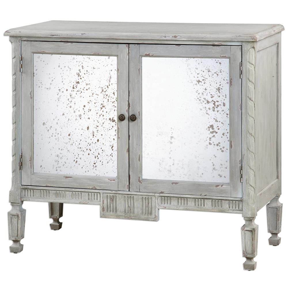 Bellport Coastal Beach Grey Antique Mirror Console Media Cabinet | Kathy  Kuo Home ... - Bellport Coastal Beach Grey Antique Mirror Console Media Cabinet
