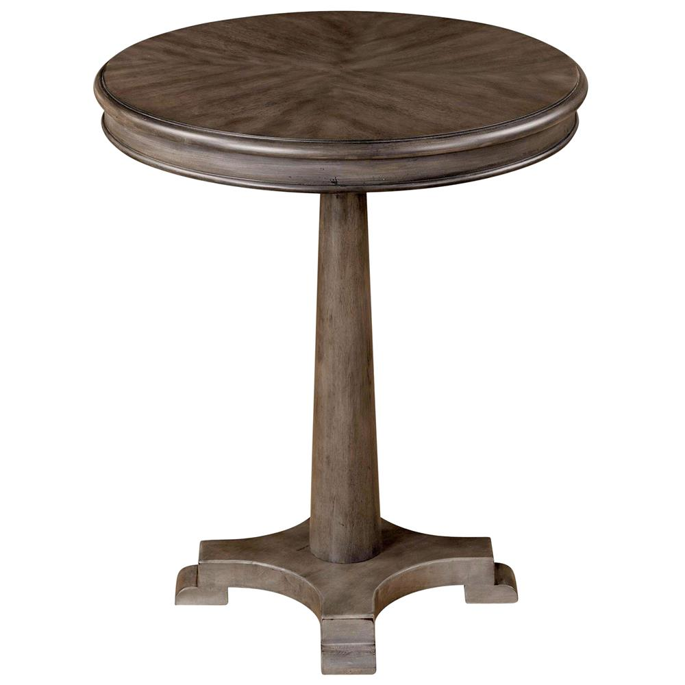 Colin Modern Classic Grey Wood Side Table Kathy Kuo Home