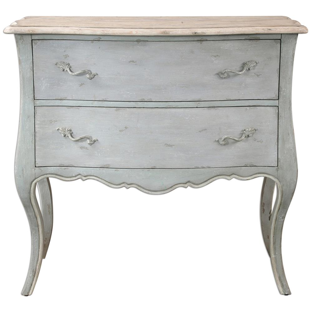 Lovely Cosette French Country Antique Ivory Soft Grey Dresser | Kathy Kuo  FK45