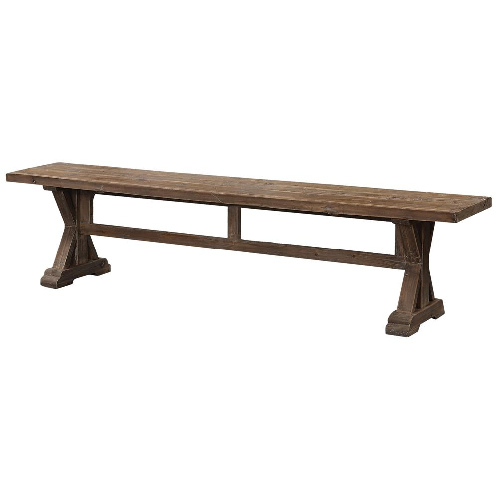 Lime Washed Farmhouse Tables And Benches Bespoke Sizes: Gamble Rustic Lodge Salvaged Fir Stone Wash Bench