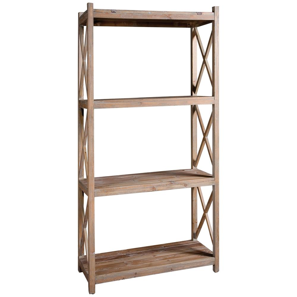 gamble rustic lodge salvaged fir stone wash etagere. Black Bedroom Furniture Sets. Home Design Ideas