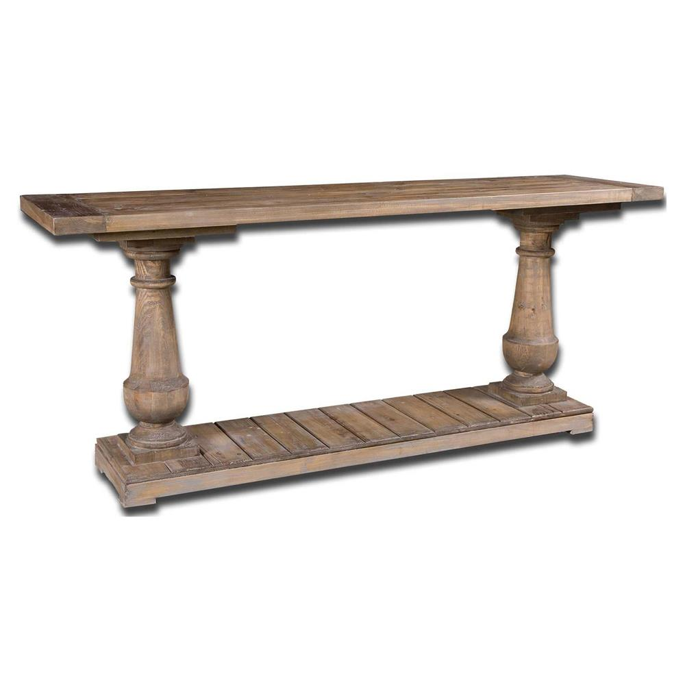 Rustic Lodge Salvaged Fir Stone Wash Console Table Kathy Kuo Home