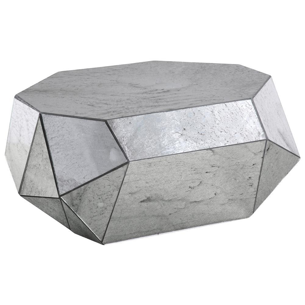 Corbin Modern Classic Geometric Mirror Silver Coffee Table