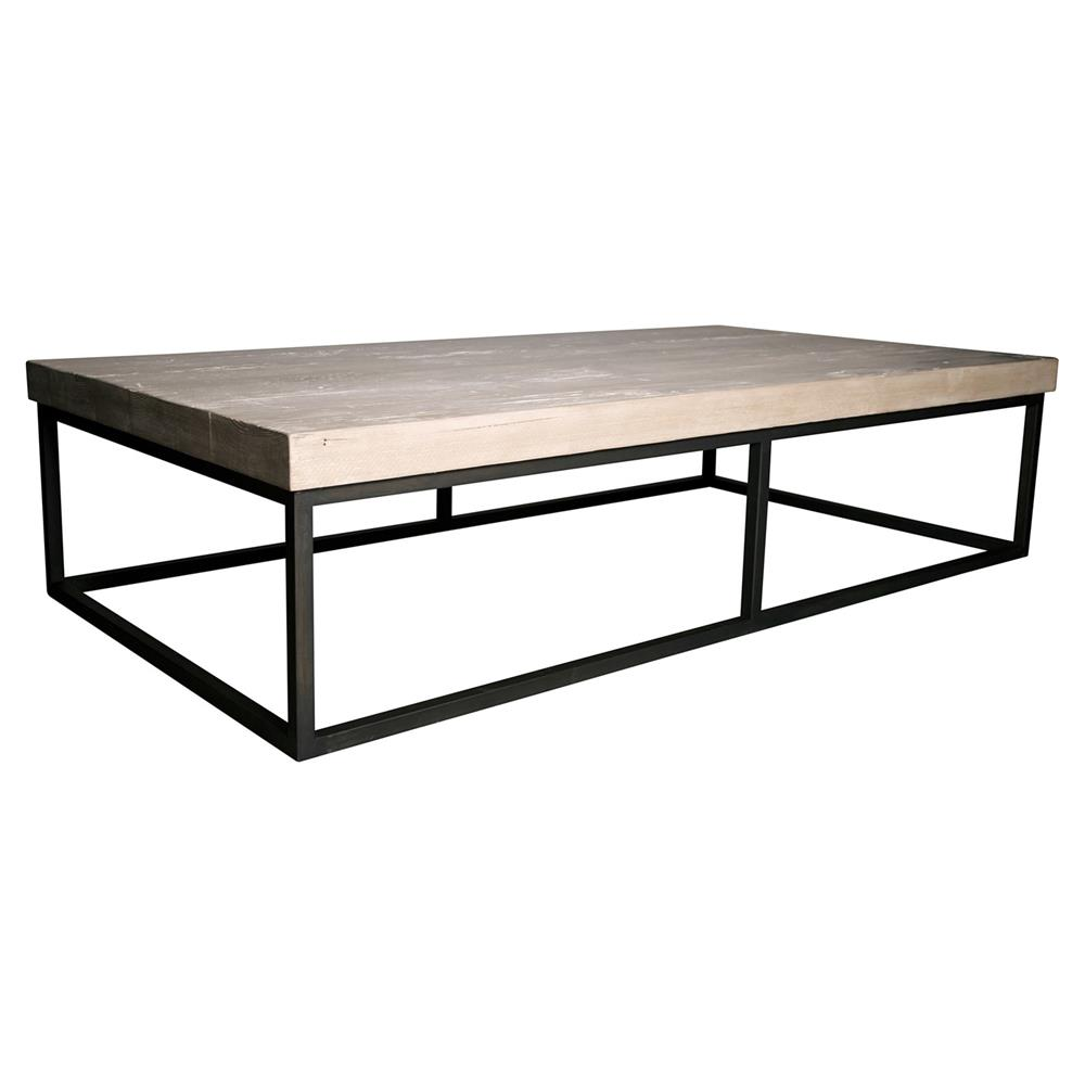 Large Coffee Table Industrial Style: Louie Industrial Loft Steel Reclaimed Fir Coffee Table