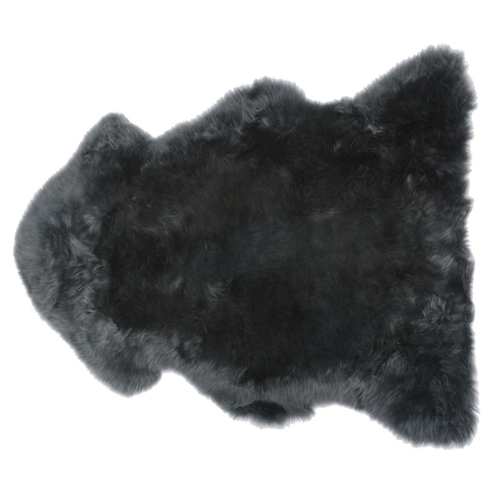 Veruca Modern Steel Grey Sheepskin Pelt Fur Rug
