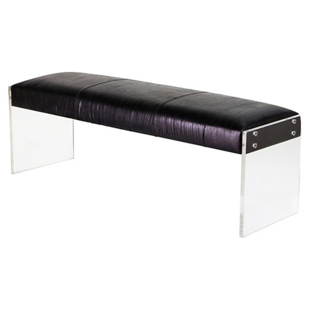 Leather Benches Modern Troy Modern Classic Acrylic Black
