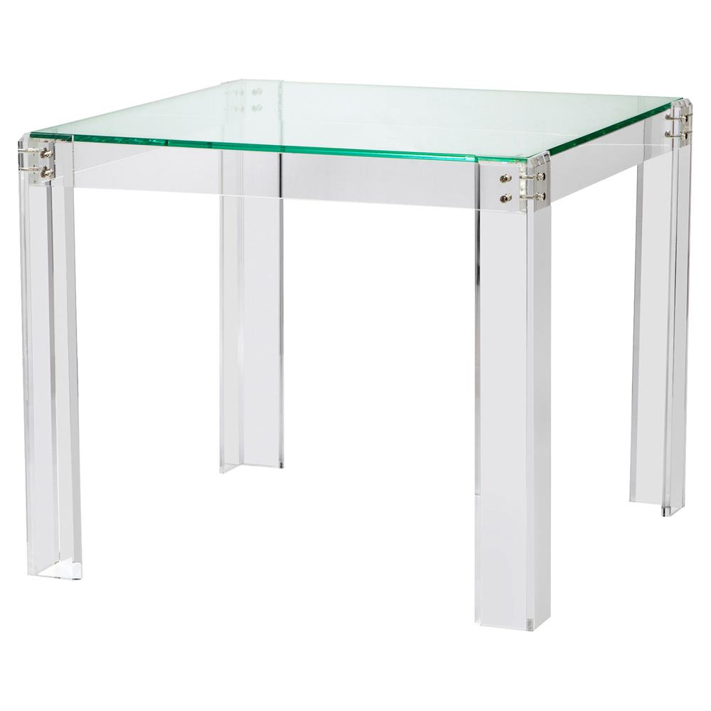 Gentil Interlude Gwenyth Modern Classic Acrylic Hinge Game Table | Kathy Kuo Home