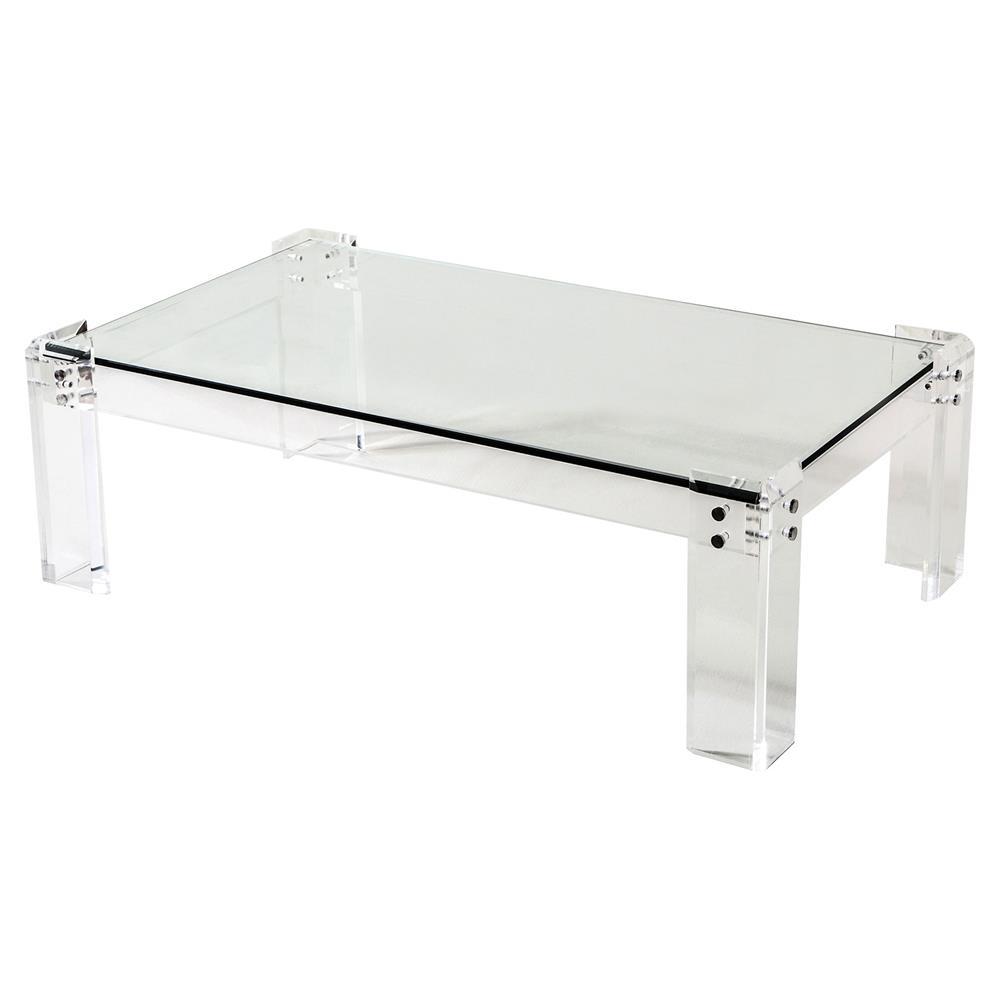 Interlude Gwenyth Modern Classic Acrylic Hinge Coffee Table