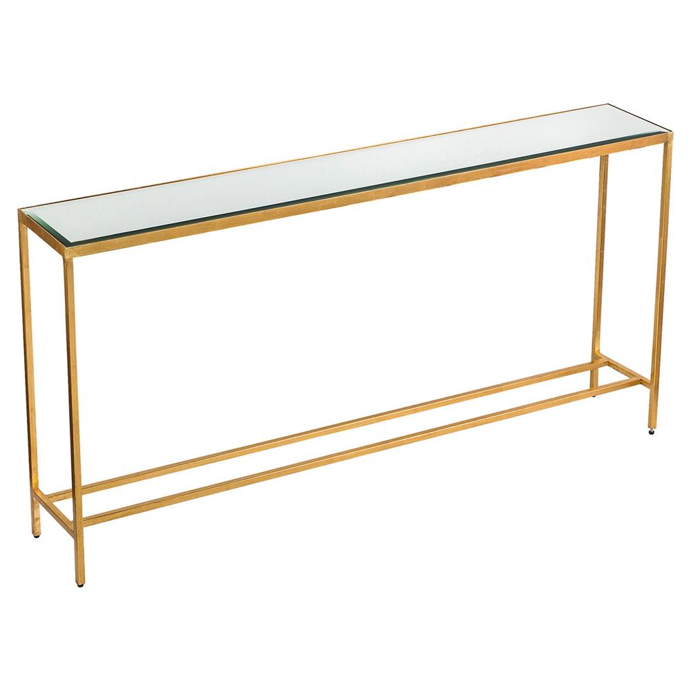 Titan Modern Classic Gold Leaf Mirror Console Table