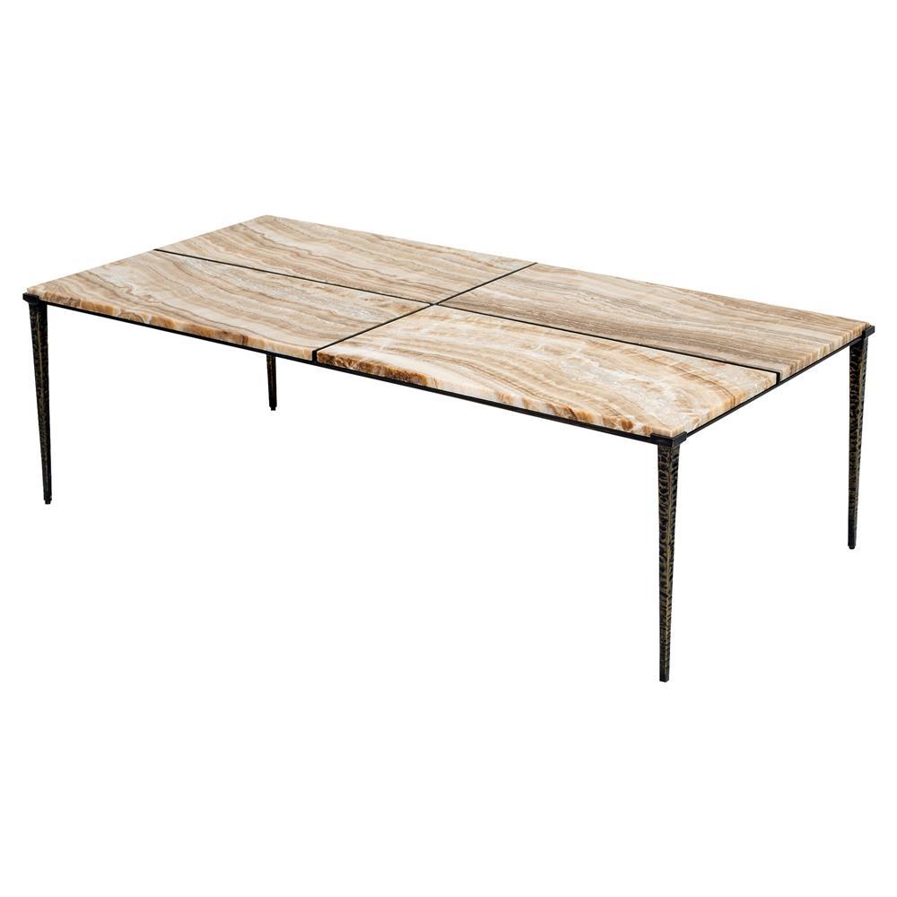 Chakori global bazaar honey marble quadrant coffee table for Bizarre coffee table