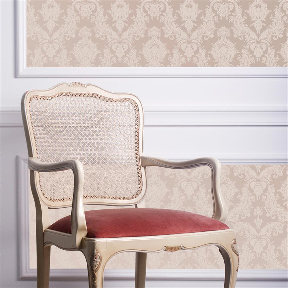 ... Damask Modern Classic Champagne Pearl Removable Wallpaper Kathy