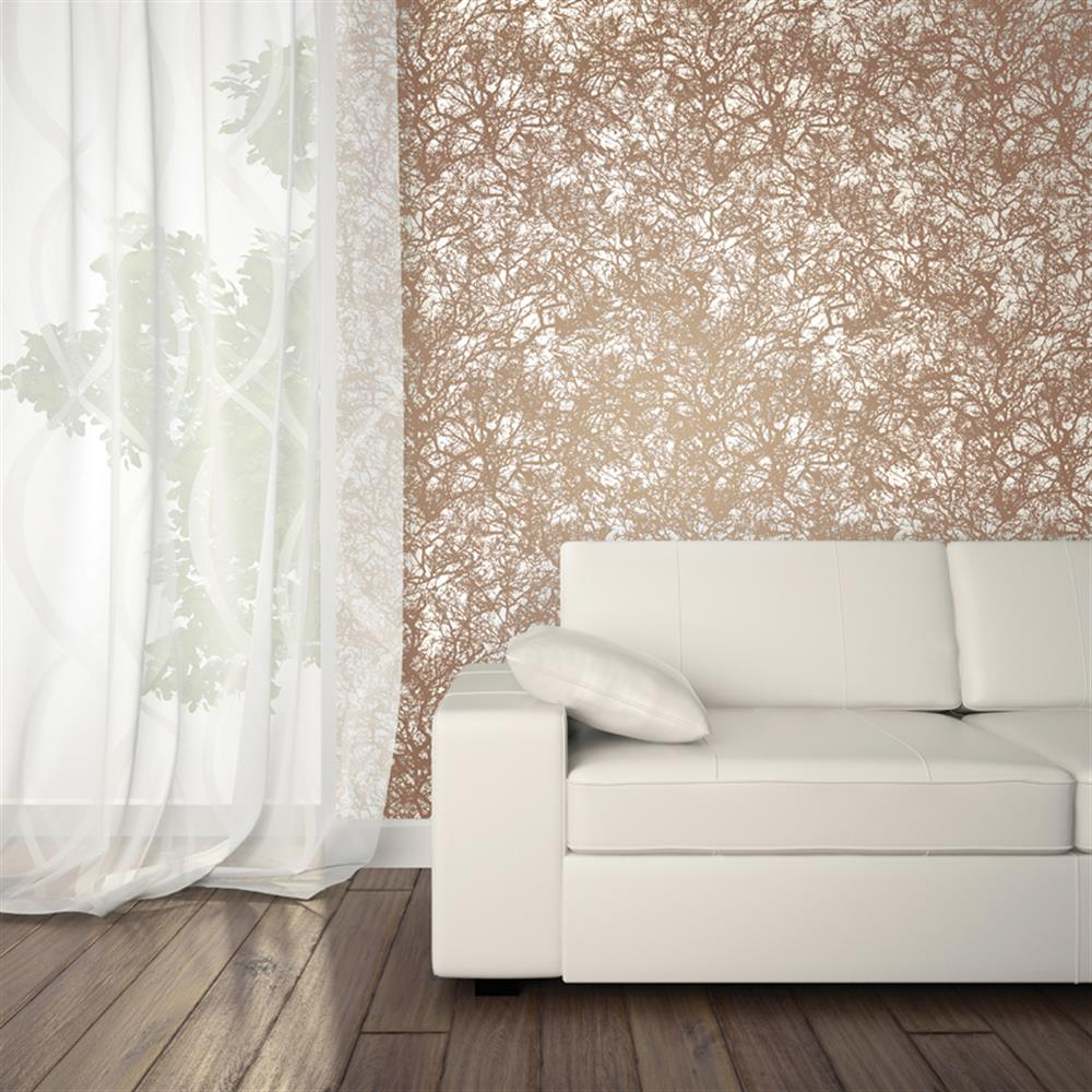 Modern Forest House: Forest Modern Classic Copper Removable Wallpaper
