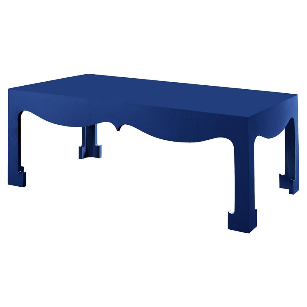 Agra Global Bazaar Blue Lacquered Coffee Table Kathy Kuo Home