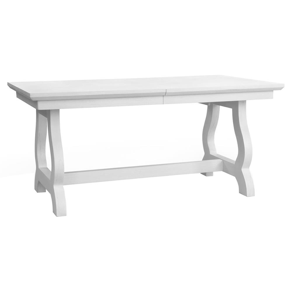 Potter Modern Classic White Farmhouse Adjustable Dining Table