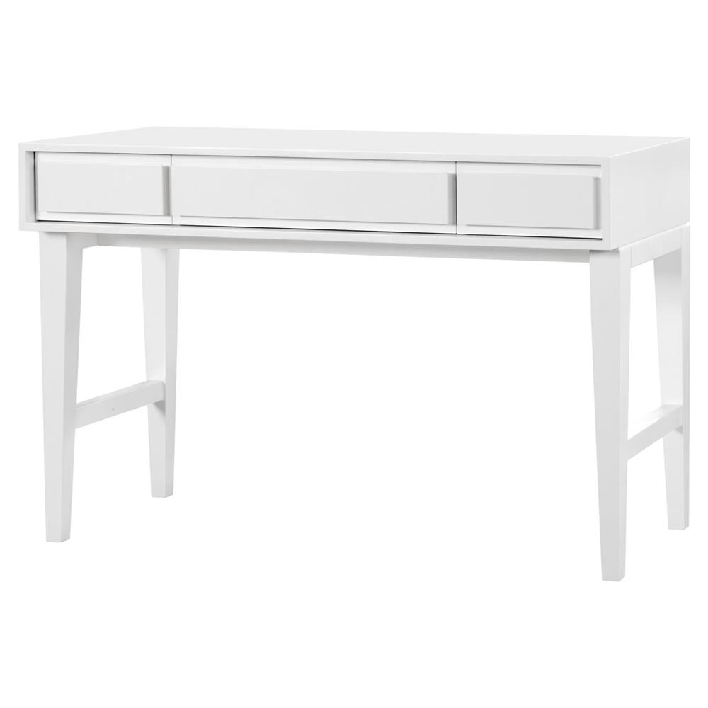 Minton modern classic white lacquer console desk kathy kuo home geotapseo Gallery