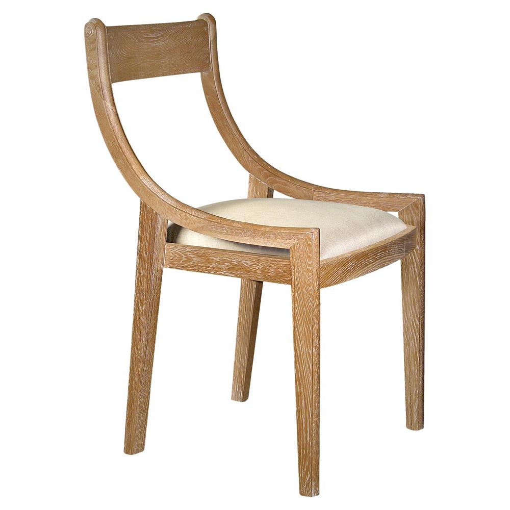 Oak Dining Chair: Templeton Hollywood Regency Natural Oak Dining Chair